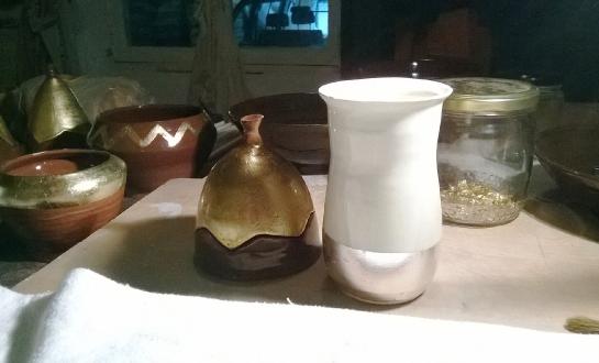 Oeuvre d'un stagiaire dorure sur céramique_1