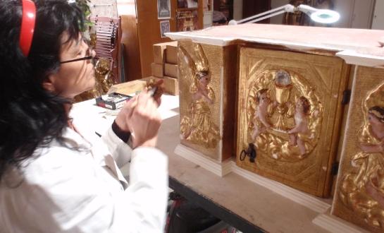 Restauration d'éléments de retable (mobilier religieux)_10