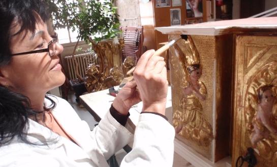 Restauration d'éléments de retable (mobilier religieux)_11