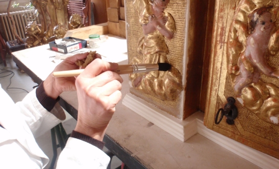 Restauration d'éléments de retable (mobilier religieux)_1