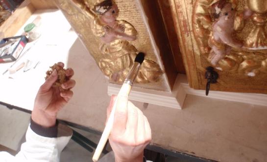 Restauration d'éléments de retable (mobilier religieux)_2