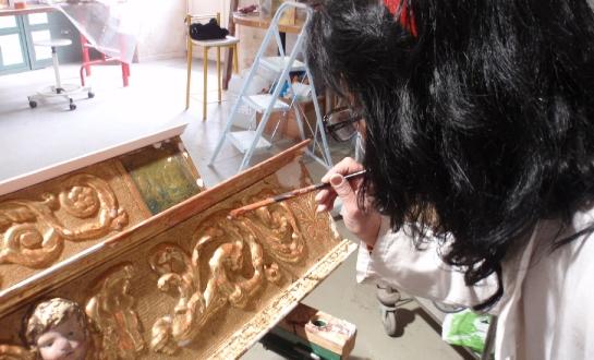 Restauration d'éléments de retable (mobilier religieux)_4