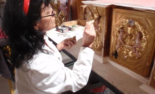 Restauration d'éléments de retable (mobilier religieux)_9